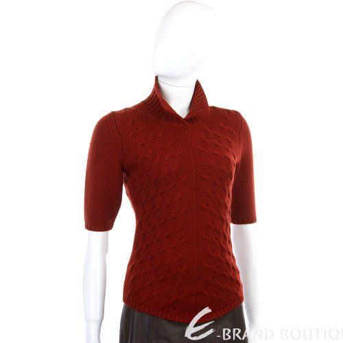 CRUCIANI 紅色針織短袖上衣 0510930-74
