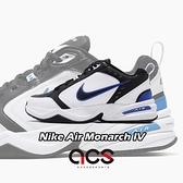 Nike 休閒鞋 Air Monarch IV 黑 白 藍 男鞋 女鞋 運動鞋 老爹鞋 【ACS】 415445-002