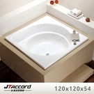 【台灣吉田】T408-120 方形壓克力浴缸(嵌入式空缸)120x120x54cm