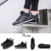 Nike 休閒慢跑鞋 Wmns Internationalist Mid 松本惠奈 黑 白 皮革 運動鞋 黑白 女鞋【PUMP306】 859549-001