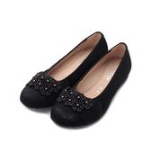 德國 GABOR 反毛花朵滾珠平底鞋 黑 22.624.26 女鞋