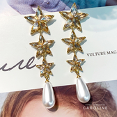 《Caroline》Bling Bling 絢麗閃亮動人流行時尚耳環72081