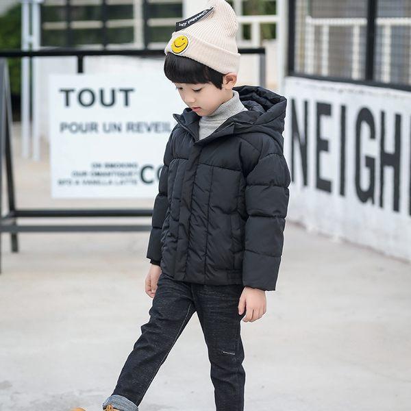 兒童羽絨棉服男童新款加厚棉衣外套中大童冬裝連帽棉襖反季