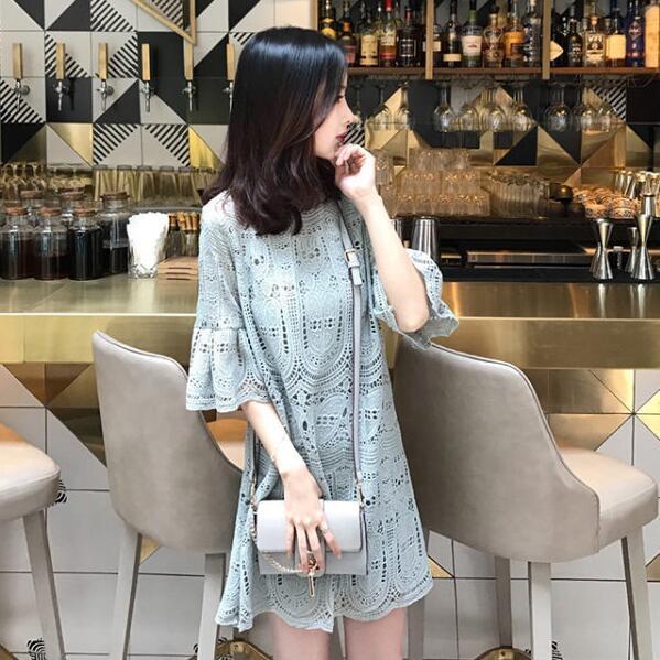 洋裝 韓版 伴娘 蕾絲 連身裙 小禮服 婚禮 花漾小姐【預購】