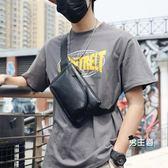 胸包 新品潮男街頭腰包時尚斜跨包休閒包小斜挎手機包正韓單肩男包