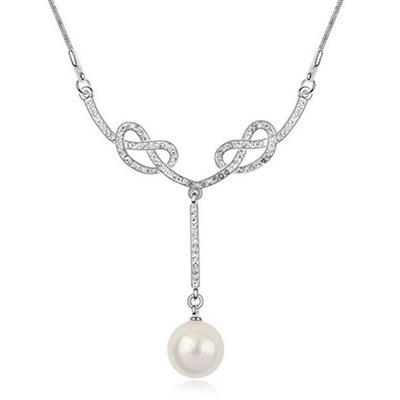 925純銀項鍊 珍珠墜飾-閃耀動人設計生日母親節禮物女飾品3色73aj84【巴黎精品】