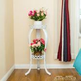 歐式鐵藝花架多層客廳室內外綠蘿吊蘭花盆架加厚綠蘿花架  igo