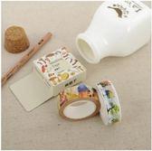 紙膠帶 和紙 膠帶 卡通 日記 貼紙 手賬 裝飾 動物 植物 人物 貓咪 食物 書本 羽毛 蝴蝶