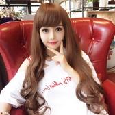 限定款假髮 韓系齊斜瀏海假髮女長捲髮時尚透氣大波浪韓系可愛全頭中長髮套
