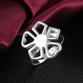 925純銀戒指 -可愛花朵生日情人節禮物女配件73at164【巴黎精品】
