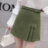 限時38折 韓系時尚半身裙高腰百搭百褶裙單品短裙