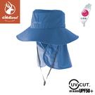 【Wildland 荒野 中性 抗UV可脫式功能遮陽帽《灰藍》】W1037/休閒帽/圓盤帽/漁夫帽/防曬/登山/護頸帽