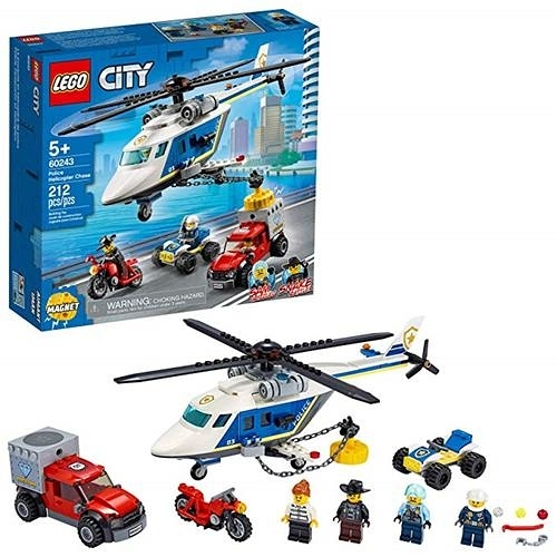 LEGO 樂高 City Police Helicopter Chase 60243 警察玩具組 (212 件)