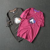 型男潮流日繫經典休閒創意趣味印花男裝修身短袖T恤 潮 聖誕交換禮物