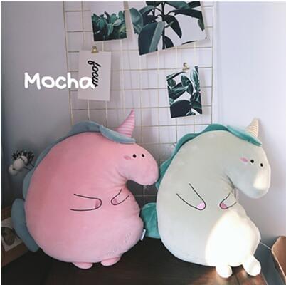 日本可愛獨角獸公仔睡覺娃娃玩偶抱枕靠墊陪睡娃娃毛絨玩具禮物