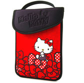 Hello Kitty SKN-521  精巧時尚平板電腦保護袋KT-蝴蝶結紅 7吋