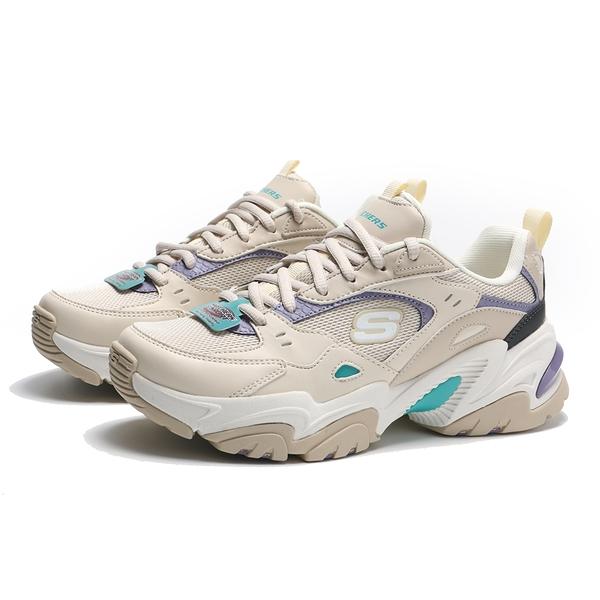 SKECHERS 休閒鞋 STAMINA V2 奶茶色 紫綠 老爹鞋 增高 女 (布魯克林) 149510NTPR