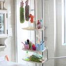 ✭米菈生活館✭【W24】不鏽鋼浴室置物架 頂天立地 免打孔 廚房 轉角 調味 簡易 伸縮 簡易 居家