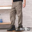 長褲★超輕薄多口袋伸縮休閒長褲(卡其)●...