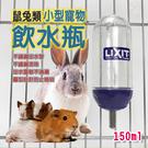 金德恩 美國製造 LIXIT小型寵物兔鼠類雙珠飲水瓶150cc天竺鼠/蜜袋鼯/黃金鼠/壓力鋼管/鋼管/雙鋼珠