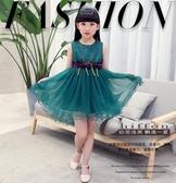 2019新款女童禮服公主裙小孩連身裙兒童洋裝無袖裙子韓版HT743
