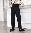 FINDSENSE H1秋季 日本 新款 設計師款 小眾 文藝 復古色高腰綁帶