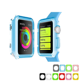 Apple watch TPU 保護殼 軟殼 38/42 粉/黑/紅/綠/藍/黃 可選