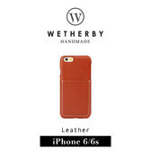 【G2 STORE】WETHERBY Pocket  iPhone 6 / 6s  4.7吋 手工製作 真皮 毛料 背蓋 保護殼-紅棕