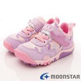 【MOONSTAR】Carrot機能童鞋-動物派對-貓咪款-CRC21889-紫-0