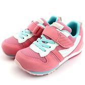 《7+1童鞋》日本月星 MOONSTAR 魔鬼氈  透氣  機能  運動鞋  C438  粉色