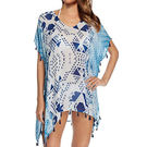 Love21-時尚女泳裝沙灘比基尼罩衫(混合藍色)
