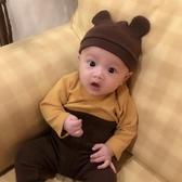 ins2020新款韓國嬰幼兒純棉帽子新生兒耳朵寶寶帽子兒童針織帽 童趣屋