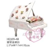 ♥小花花日本精品♥ 陶瓷音樂鋼琴玫瑰花白色高級質感佳送禮自用音樂鈴療癒小物擺飾收藏品