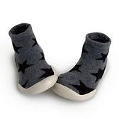 法國 Collegien 手工襪鞋 灰底黑星(20-25)