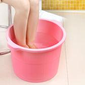 618好康又一發加厚洗腳桶塑料足浴桶仿木桶養生足浴盆