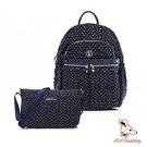 B.S.D.S冰山袋鼠 - 楓糖瑪芝 - 輕旅多口袋後背包+側背小包2件組 - 幾何藍【Z043+001】
