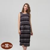 【岱妮蠶絲】生活蠶系列-粗細條背心洋裝(黑條紋)
