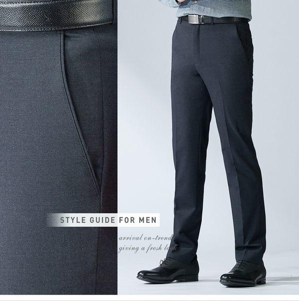 極品西服 大氣品味商務羊毛立挺西褲_黑灰斜紋(BW701-1)