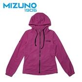 MIZUNO 女裝 外套 連帽 1906 針織 套裝 素面 袖口縮口 紫紅【運動世界】D2TC923368