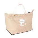 Fila 手提包 Canvas Bag 米 白 男女款 斜背包 兩用 帆布袋 運動休閒 【ACS】 BMU9009KK
