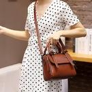 包包女新款潮時尚手提包氣質女神牛皮單肩斜背包托特包 檸檬衣舍