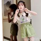 女童短袖t恤2021新款夏季純棉大童套裝洋氣6兒童裝網紅12女孩夏裝 小艾新品