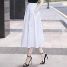2021春款新款今年流行的裙子女半裙中長款白色半身裙垂感裙a字夏【快速出貨】