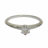 Tiffany & Co 蒂芬妮 0.27克拉鑽石六爪鉑金戒指 PT950 Solitaire Ring  【BRAND OFF】