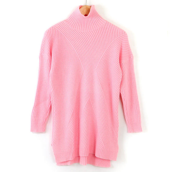 【MASTINA】少女粉高領毛衣-粉  冬末好康