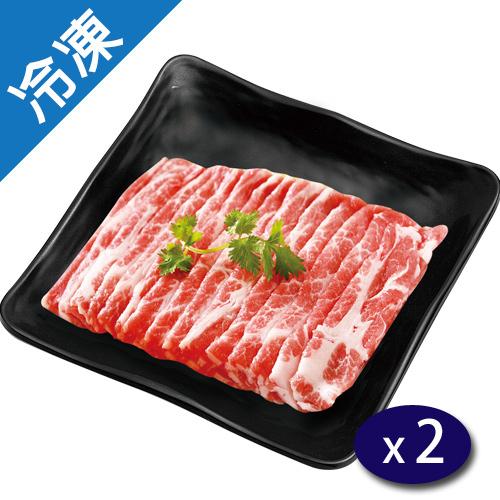台灣特選豬梅花火鍋片180G/盒X2【愛買冷凍】