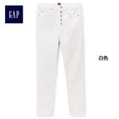 Gap女裝 舒適高腰緊身九分休閒褲 397792-白色