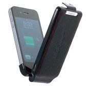 i Phone 4/4S  真皮前扣式外置式電池( 可回充電力)