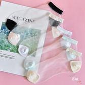 玻璃絲襪子女純棉夏季正韓船襪可愛超薄款水晶絲襪防勾絲淺口短襪(限時八八折)