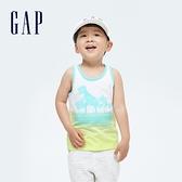 Gap男幼童 純棉立體膠印背心 698320-恐龍圖案
